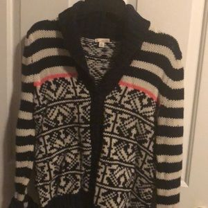 GAP Navy and Cream Cardigan Sweater